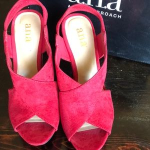 da630a6da01fa a.n.a Shoes - a.n.a Mindy Red wedges
